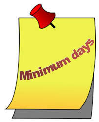 Image result for minimum days
